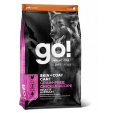 Корм GO! SKIN + COAT Grain Free Chicken Recipe DF для собак всех возрастов, беззерновой, цельная курица