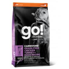 Корм GO! беззерновой для пожилых собак всех пород 4 вида мяса: Индейка, Курица, Лосось, Утка, GO! CARNIVORE GF, 10 кг