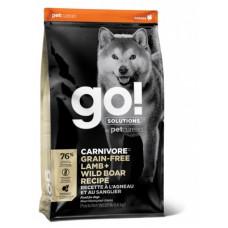 Корм GO! Carnivore GF Lamb + Wild Boar Recipe DF 32/16 для cобак всех возрастов, беззерновой, ягнёнок/мясо дикого кабана