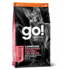 Корм GO! Carnivore GF Salmon + Cod Recipe DF 34/16 для cобак всех возрастов, беззерновой, лосось/треска