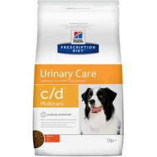 Корм Hills Prescription Diet c/d Multicare Urinary Care для собак при профилактике мочекаменной болезни, диетический, курица