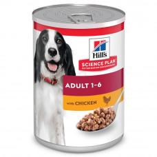 Корм Hills Science Plan Adult Chicken для взрослых собак, курица, банка, 370 г