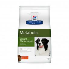 Корм Hills Prescription Diet Metabolic для собак, способствует снижению и контролю веса, диетический, курица, 4 кг