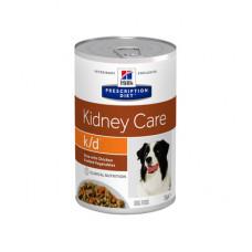 Корм Hills Prescription Diet k/d для собак при лечении заболеваний почек, диетический, курица/овощи, рагу, банка, 354 г