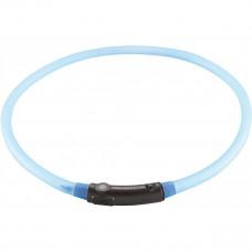 Светящийся ошейник Hunter LED Yukon USB, голубой, 20-70 см