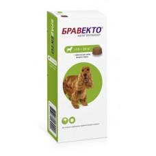 Жевательная таблетка Intervet Бравекто для собак 10-20 кг, от блох и клещей, 500 мг