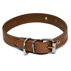 Ошейник Каскад кожаный, щенячий, ширина - 15 мм, обхват шеи - 24-30 см