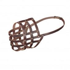 Намордник Каскад кожаный №6 (дог кабель, кавказская овчарка, московская сторожевая сука)