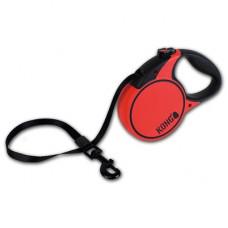 Рулетка Kong Terrain, S, для собак, лента, 5 м, до 20 кг, красная