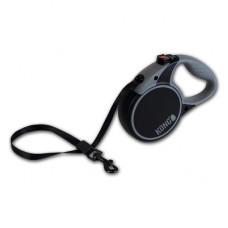 Рулетка Kong Terrain, XS, для собак, лента, 3 м, до 12 кг, чёрная