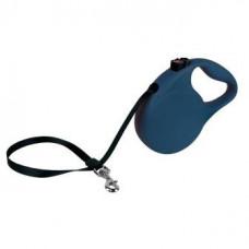 Рулетка Kong Trail, M, для собак, лента, 5 м, до 30 кг, синяя