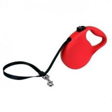 Рулетка Kong Trail, S, для собак, лента, 5 м, до 20 кг, красная