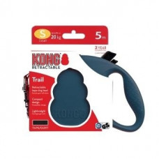 Рулетка Kong Trail, S, для собак, лента, 5 м, до 20 кг, синяя