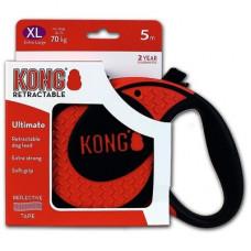 Рулетка Kong Ultimate, XL, для собак, лента, 5 м, до 70 кг, красная