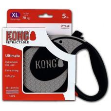 Рулетка Kong Ultimate, XL, для собак, лента, 5 м, до 70 кг, серая