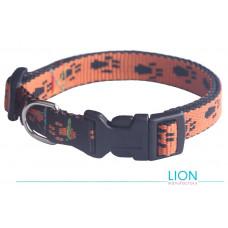 Lion Ошейник Лапки с пластмассовой пряжкой, 25 мм, 40-70 см