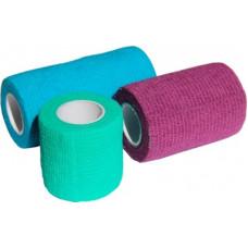 Бинт самофиксирующийся Luxsan, фиолетовый, 7.5х450 см