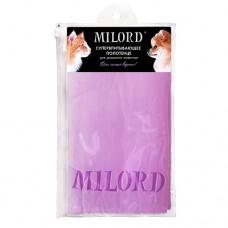 Полотенце для домашних животных 66x43 см, фиолетовое