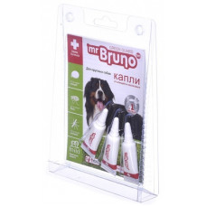 Репеллентные капли Mr.Bruno для крупных собак весом более 30 кг, 3 шт по 4 мл