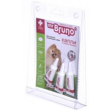 Репеллентные капли Mr.Bruno для щенков и мелких собак весом менее 10 кг, 3 шт по 1 мл