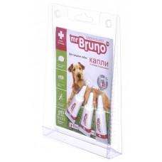 Репеллентные капли Mr.Bruno для средних собак весом 10-30 кг, 3 шт по 2,5 мл