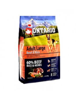 Корм Ontario Adult Large Beef & Turkey для собак крупных пород, говядина/рис