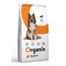 Корм Organix Adult Dog Turkey для взрослых собак с чувствительным пищеварением, индейка, 12 кг