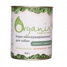 Корм Organix для собак, говядина/перепелка, банка, 850 г