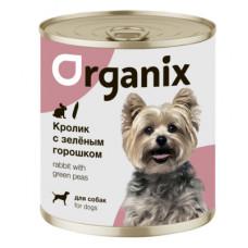 Корм Organix для собак, кролик/зелёный горошек, банка, 750 г