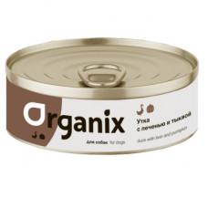 Корм Organix для собак, сочная утка с печенью и тыквой, банка, 100 г