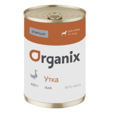 Корм Organix Premium для собак, утка 99%, банка, 400 г