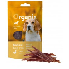 Лакомство Organix Duck fillet/ shredding для собак, нарезка утиного филе, 100 г