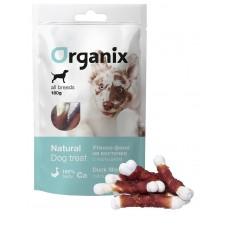Лакомство Organix Duck fillet/calcium twisted для собак, утиное филе на косточке с кальцием, 100 г