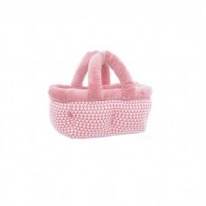 Кровать-переноска с узором треугольники, розовый, XENA /PINK