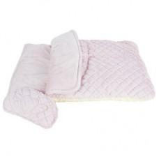Стеганый спальный мешок, розовый + игрушка-подушка, ANGEL SLEEPING BAG