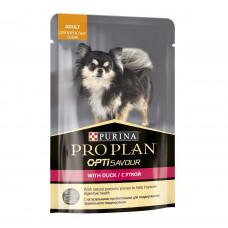 ProPlan для взрослых собак мелких пород, утка, соус, пауч, 100 г