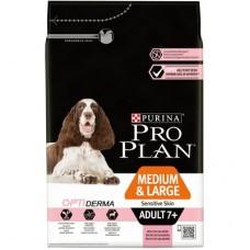 Корм Purina Pro Plan для пожилых собак с чувствительной кожей с лососем и рисом, Senior Sensitive Skin
