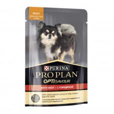 ProPlan для взрослых собак мелких пород, говядина, соус, пауч, 100 г