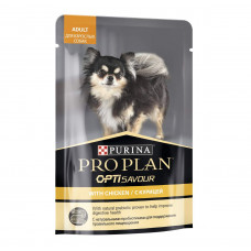 ProPlan для взрослых собак мелких пород, курица, соус, пауч, 100 г