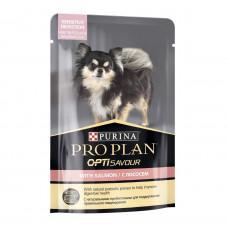 ProPlan для взрослых собак мелких пород для чувствительного пищеварения, лосось, соус, пауч, 100 г