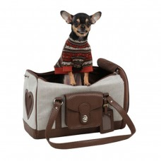 Сумка-переноска для собак до 3,5 кг с окошком сердечком, бежевый, GRAND CARRIER/BEIGE/ONESIZE