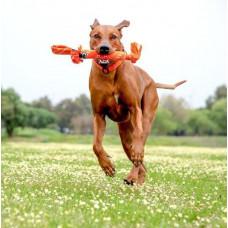 Игрушка Scrubz Rope Tug Toy веревочная шуршащая, оранжевый, L