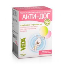 Веда Акти-Дог для щенков и маленьких собак, 5 пакетов по 8 г