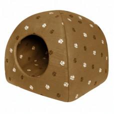 "Мягкий домик Yami-Yami ""Юрта"" с подушкой, хлопок, коричневый, 48х48х47 см"