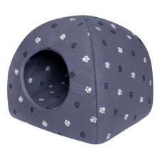 """Мягкий домик Yami-Yami """"Юрта"""" с подушкой, хлопок, серый, 48х48х47 см"""