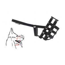 Намордник Yami-Yami для собак малых пород, кожаный, №1, чёрный