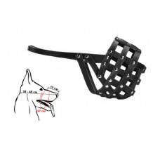 Намордник Yami-Yami для собак крупных пород, кожаный, №5, чёрный
