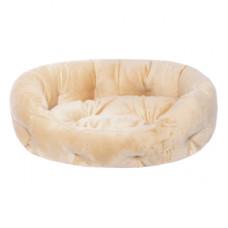 Лежак Yami-Yami с подушкой, овальный, бежевый, 50x40x16 см