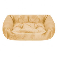 Лежак Yami-Yami с подушкой, прямоугольный, бежевый, 103x75x27 см