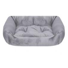 Лежак Yami-Yami с подушкой, прямоугольный, серый, L, 103x75x27 см